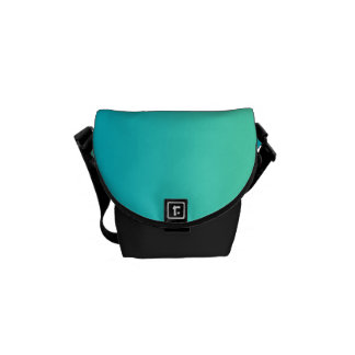 """""""Turquoise Ombre"""" Courier Bag"""