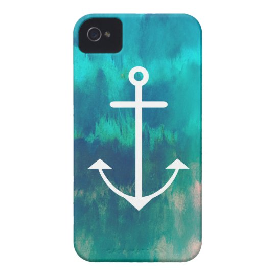 Turquoise Ombre Nautical Case-Mate iPhone 4 Case