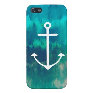 Turquoise Ombre Nautical iPhone 5 Cases