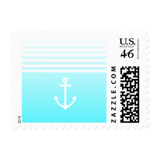 Turquoise Ombre Nautical Postage