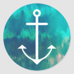 Turquoise Ombre Nautical Stickers