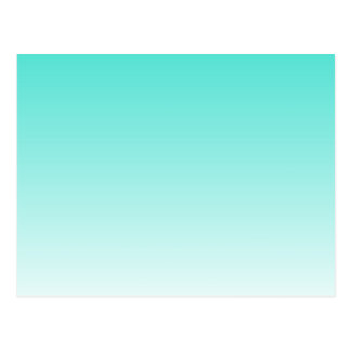 Turquoise Ombre Postcard