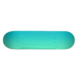 Turquoise Ombre Skateboard at Zazzle