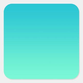 Turquoise Ombre Square Sticker