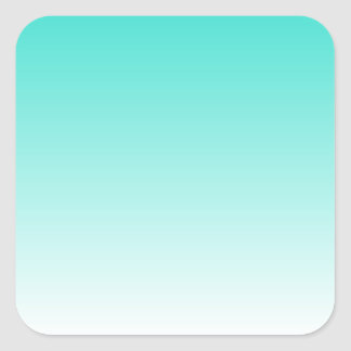 Turquoise Ombre Square Sticker