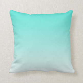 turquoise ombre throw pillow