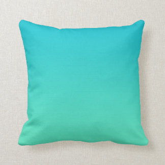 """""""Turquoise Ombre"""" Throw Pillows"""