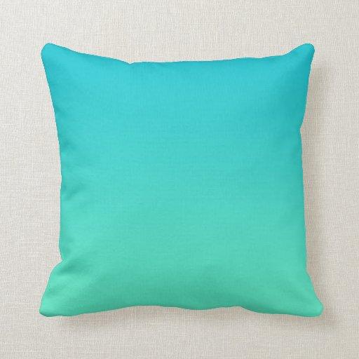 Cute Aqua Throw Pillows : ?Turquoise Ombre? Throw Pillows Zazzle