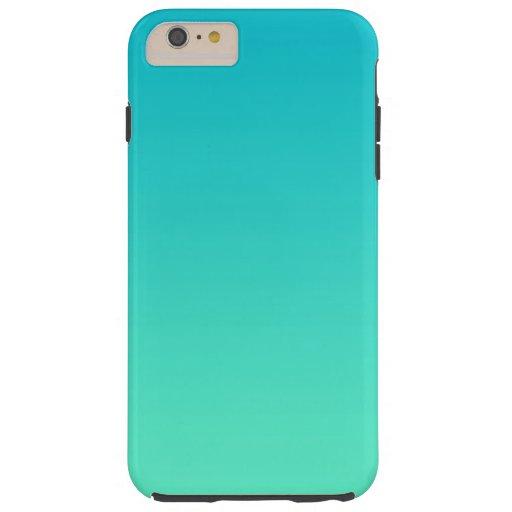 turquoise ombre tough iphone 6 plus case zazzle. Black Bedroom Furniture Sets. Home Design Ideas