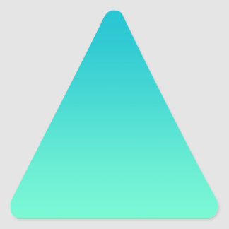 Turquoise Ombre Triangle Sticker