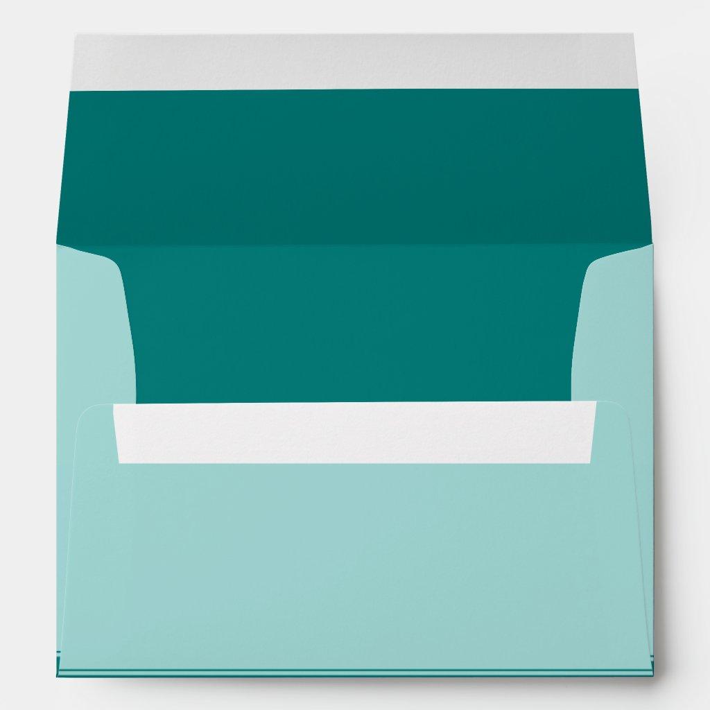 Turquoise or Teal Customizable Wedding Envelope 10 envelopes.