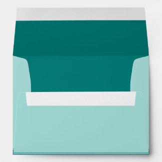 Turquoise or Teal Customizable Wedding Envelope