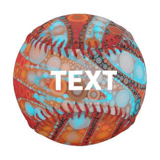 Turquoise Orange Abstract Baseball