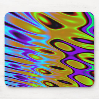 Turquoise Orange Green Abstract Mouse Pad