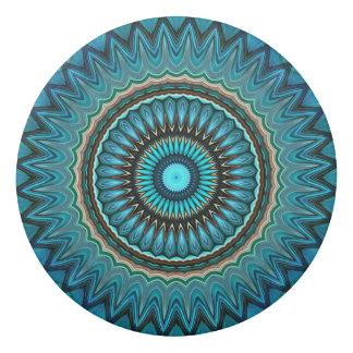 Turquoise Orange Green Mandala Round Star Pattern Eraser