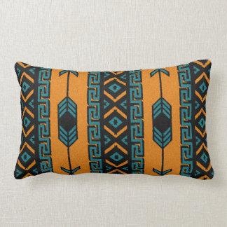 Turquoise Orange Southwest Tribal Aztec Pattern Throw Pillow
