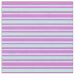 [ Thumbnail: Turquoise & Orchid Colored Lined/Striped Pattern Fabric ]