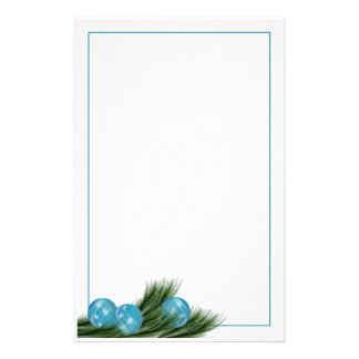 Turquoise Ornaments Stationery