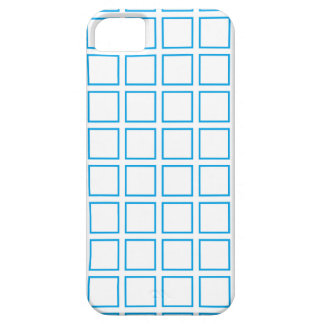 Turquoise Outlined Squares iPhone SE/5/5s Case