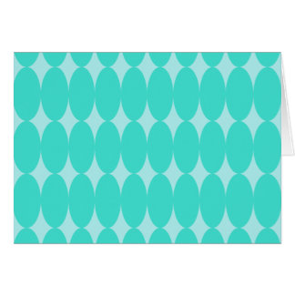 Turquoise Oval Pattern Greeting Card