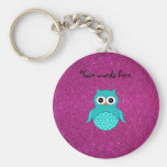 Turquoise owl cute keychains