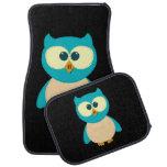 Turquoise Owl Floor Mat