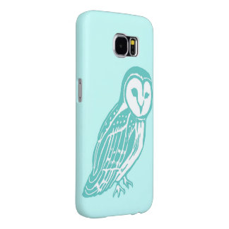 Turquoise Owl Light Aqua Samsung Galaxy S6 Case Samsung Galaxy S6 Cases