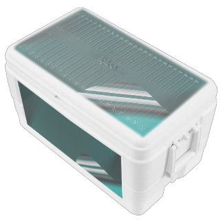 Turquoise Page Curl Chest Cooler