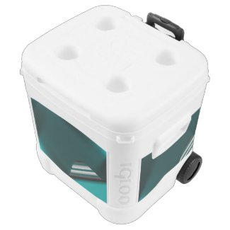 Turquoise Page Curl Cooler
