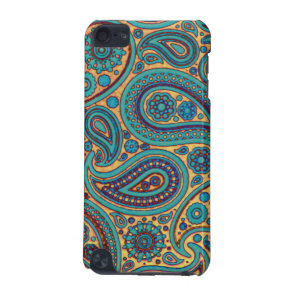 Turquoise Paisley design iPod Touch 5G Cover