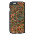 Turquoise Paisley design Carved® Cherry iPhone 6 Case