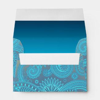 Turquoise Paisley Envelope