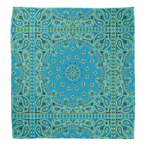 Turquoise Paisley Hippie Bandana Scarf