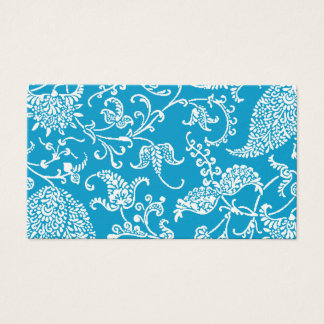 Turquoise Paisley Profile Business Card
