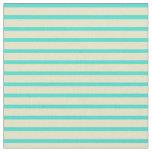[ Thumbnail: Turquoise & Pale Goldenrod Stripes Fabric ]