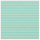 [ Thumbnail: Turquoise & Pale Goldenrod Stripes/Lines Pattern Fabric ]