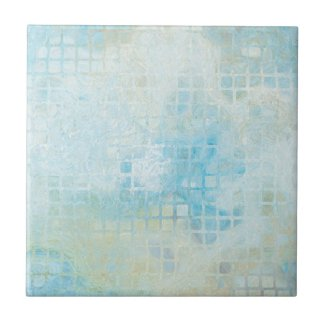 Turquoise Pastel Geometric Bathroom Tile