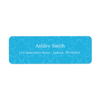 Turquoise Pattern  Background Wedding Labels