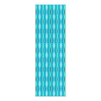 Turquoise Pattern Bookmarks Mini Business Card