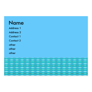 turquoise pattern business card template