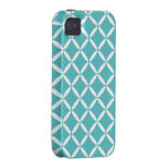 Turquoise Pattern iPhone 4 Case-Mate