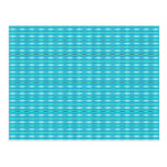 Turquoise pattern postcard