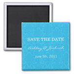 Turquoise Pattern   Save The Date Magnets