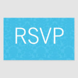 Turquoise Pattern   Wedding RSVP Stickers