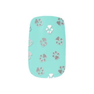 Turquoise Pawprint Minx ® Nail Art
