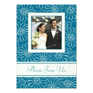 "Turquoise Photo Wedding Vow Renewal Invitations 5"" X 7"" Invitation Card"