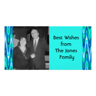 turquoise photo card