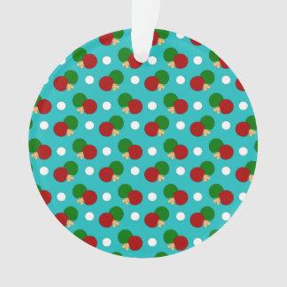 Turquoise ping pong pattern
