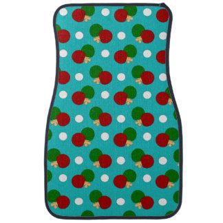Turquoise ping pong pattern car mat