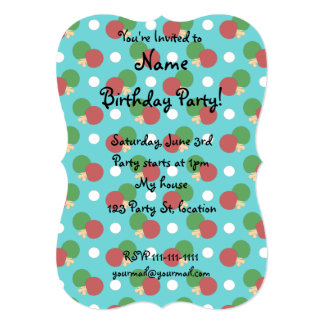 Turquoise ping pong pattern card